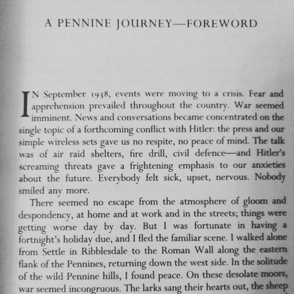 Forword from A. Wainwright book A Pennine Journey #brexit #trump #soundsfamiliar #howifeel